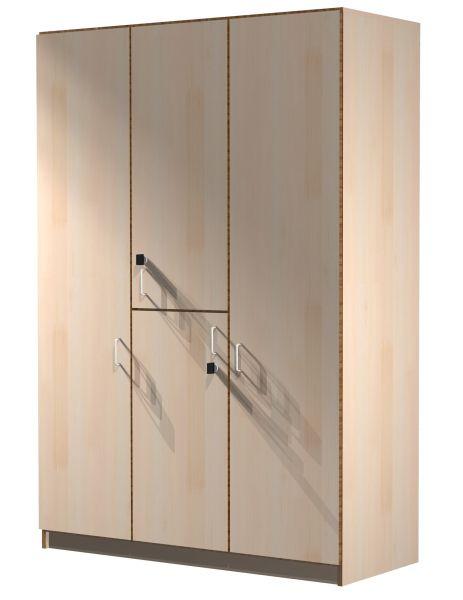Kleiderwäscheschrank, 3-teilig für Doppelzimmer