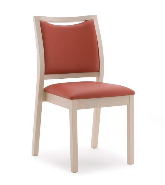 Stuhl für Seniorenheime, Bezug mit Nässeschutz, ohne Armlehn