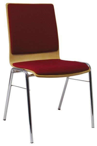 Stuhl mit Sitzschale PAUL, mit Sitzpolster