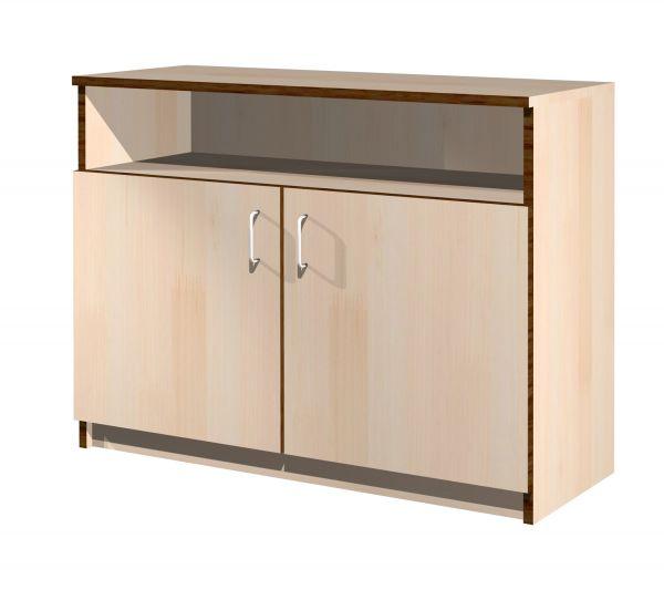Sideboard mit 2 Türen, darüber offenes Fach