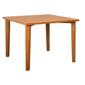 Holztisch, Platte HPL, konische Massivholzkonsolen
