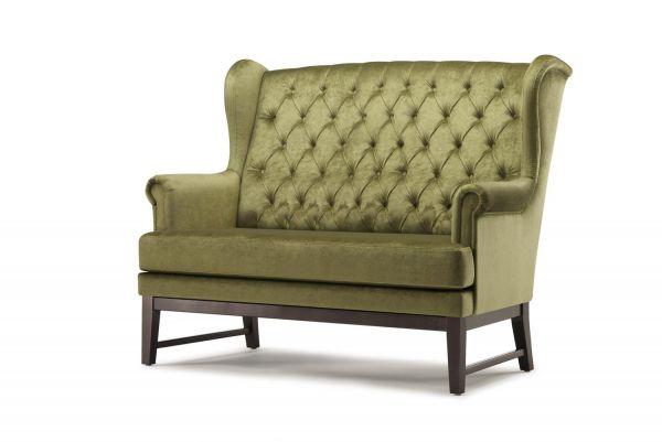 Zweisitzer-Sofa SENATOR 3, Rückenlehne gesteppt