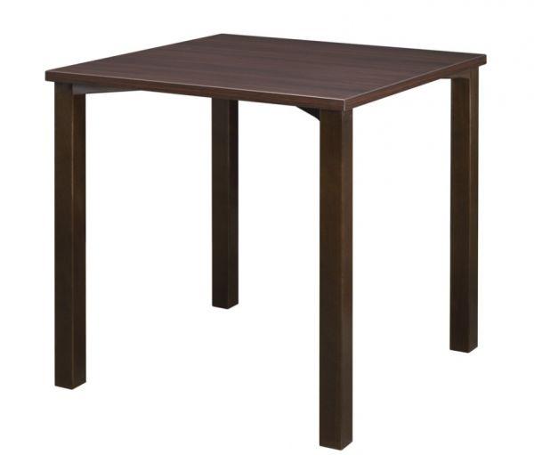 Holztisch, Platte Melamin, quadratische Massivholzkonsolen