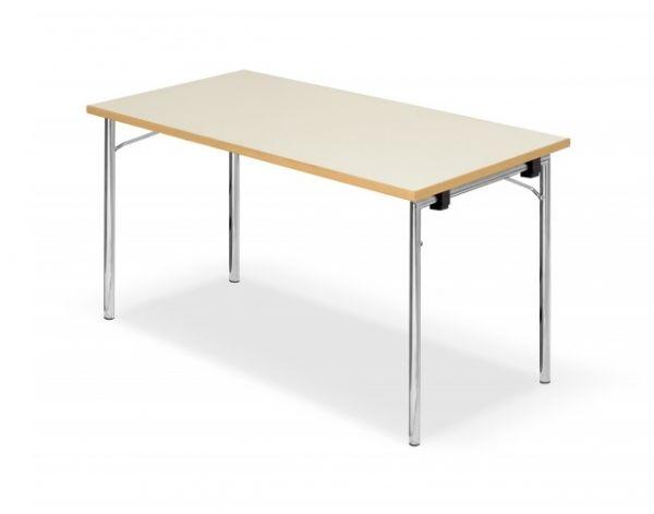 Design Klapptisch Modell DEMUS, Chromgestell, HPL-Tischplatt
