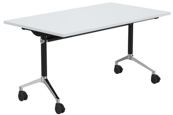 Fahrbarer Tisch mit abklappbarer Platte