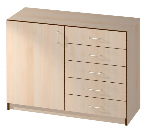 Sideboard mit 1 Tür und 5 Schubladen