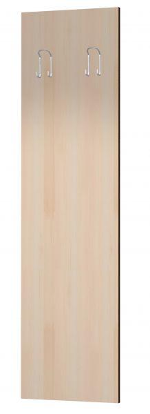 Holzpaneel mit 2 Garderobenhaken