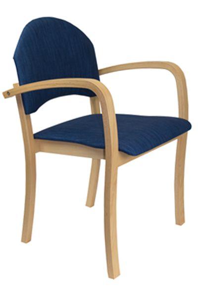 Armlehnenstuhl für Tagespflege TINA 1, Stoffbezug desinfekti