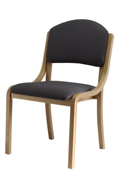 Schichtholzstuhl Modell TINA 5 ohne Armlehnen, Bezug mit Näs