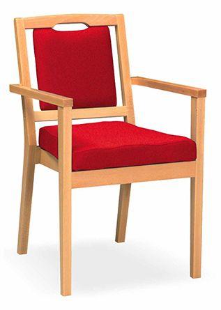 Massivholzstuhl SARAJEWO 3, Sitz- und Rücken geteilt